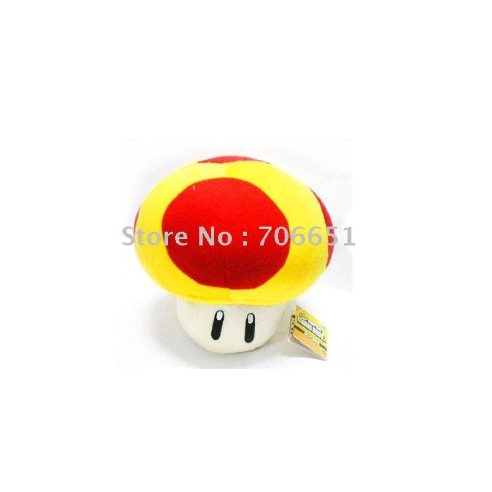 whole 5 super mario bros mushroom plush 100pcs/lot soft plush doll stuffed toy with key chain mix