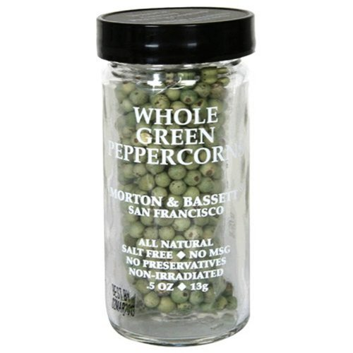 Morton & Basset Peppercorns, Green Whole, 0.5-Ounce (Pack of 3)