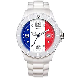 TIME100 Memorial National World Cup Classic Silicone Strap France Outdoor Sports Digital Watch #W40113M.03A
