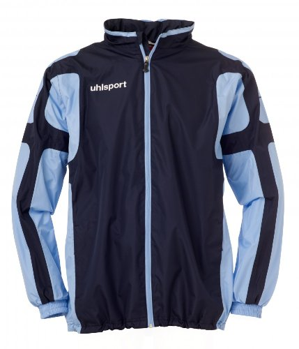Uhlsport Cup-Giacca impermeabile, Unisex, Regenjacke Cup, Marine/Blu cielo, XL