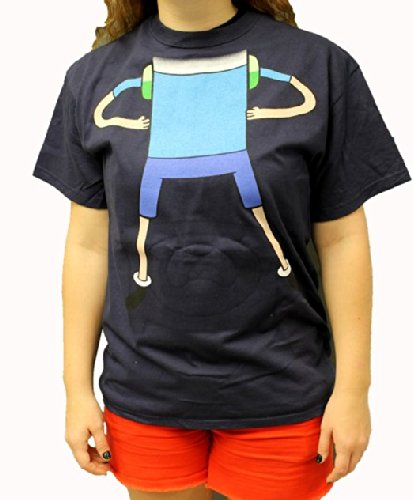 Adventure Time With Finn And Jake Reversible Mask Costume Adult T-shirt