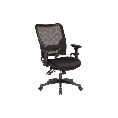 Office Star Space Professional Dual Function Ergonomic Air Grid Chair with Gunmetal Finish Accents