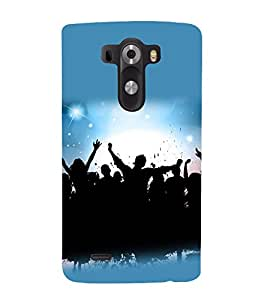 printtech Disco Party Dance Back Case Cover for LG G3