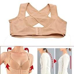 Xhan Lady Chest Breast Support Belt Band Posture Corrector Brace Body Sculpting Strap Back Shoulder Vest X Type Pattern