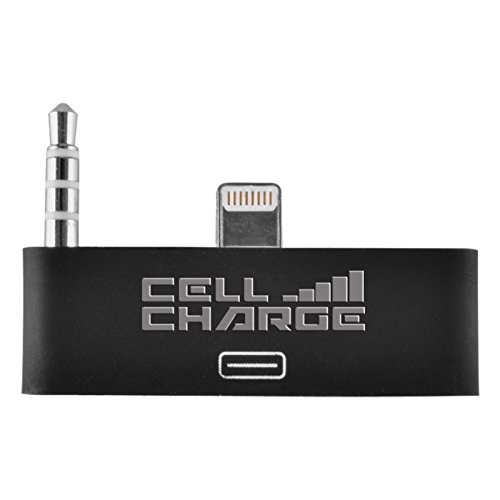 Cell Charge 30 Pin To 8 Pin Audio Jack Adapter Converter For Iphone 5/5S/5C (Black)