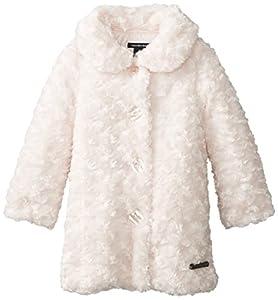 Calvin Klein Little Girls'  Faux Fur Coat, Pink, 6X