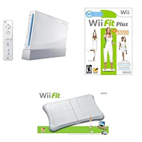 nintendo wii console w wii balance board and wii fit plus game bundle. Black Bedroom Furniture Sets. Home Design Ideas