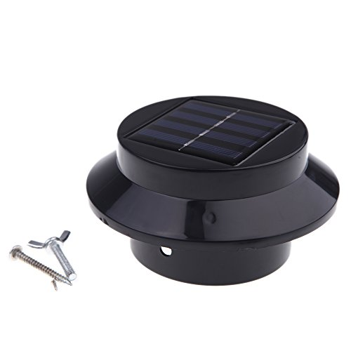 Docooler® Solar-Powered Light With 3Pcs Leds Polycrystalline Solar Panel Rechargeable Water-Resistant Environmental-Friendly Universal For Roof Pathway Outdoor Garden Yard Black