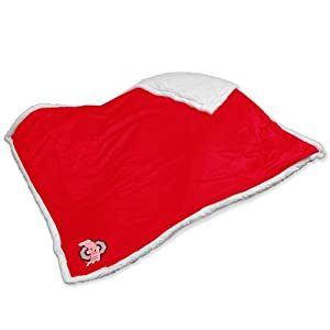 NCAA Ohio State Buckeyes Sherpa Plush Blanket by Logo