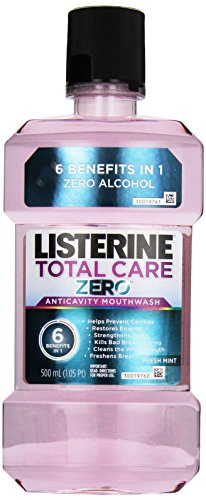 Listerine Total Care Zero, Fresh Mint, 500ml, (Pack of 2)