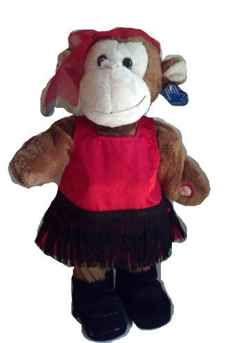 Applause Dance Party Animals Musical Plush 40s Girl Monkey - 1
