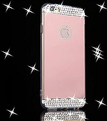 iPhone 6 Plus Case,Inspirationc® Luxury Diamond Mirror Soft TPU Silicone Cover for iPhone 6 Plus/6S Plus Case [Girl case]