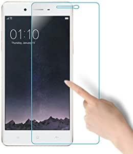 SNOOGG Pack of 7 Oppo F1 (Golden)Full Body Tempered Glass Screen Protector [ Full Body Edge to Edge ] [ Anti Scratch ] [ 2.5D Round Edge] [HD View] – White