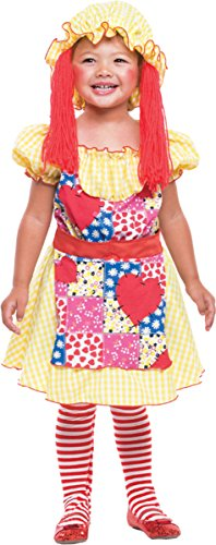 Costumes For All Occasions PM769698 Rag Doll Toddler 3T-4T