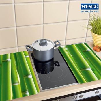 WENKO Universal Bambus Herdabdeckplatten