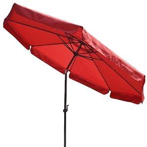 Tilt Outdoor Patio Umbrella Furniture Red 10 Foot Patio Lawn Garden
