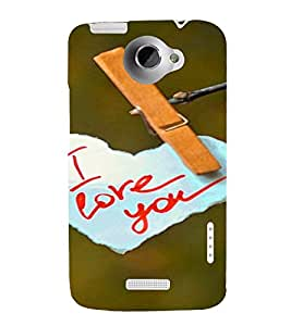 PrintVisa Love Quotes Design 3D Hard Polycarbonate Designer Back Case Cover for HTC One X