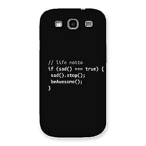 Impressive Programer Life Back Case Cover for Galaxy S3 Neo