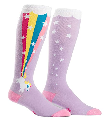 Sock It To Me Stretch-It Novelty Knee High Tube Socks for Thick Calves Various Styles (Rainbow Blast) Shoe Sizes 5-10 (Baby Shoes For Fat Feet compare prices)