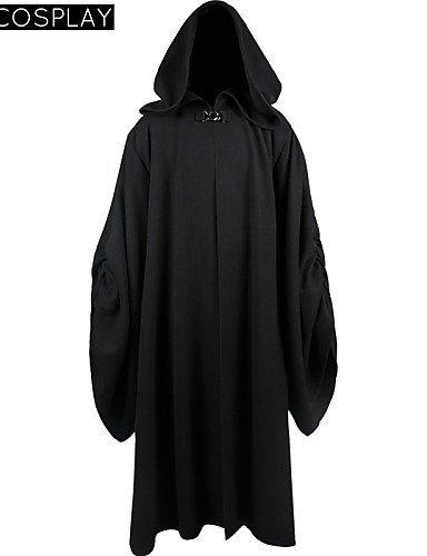 [FW@ Star Wars Emperor Palpatine Darth Sidious Black Cloak Cosplay Costume , male , m] (Star Wars Emperor Palpatine Costume)
