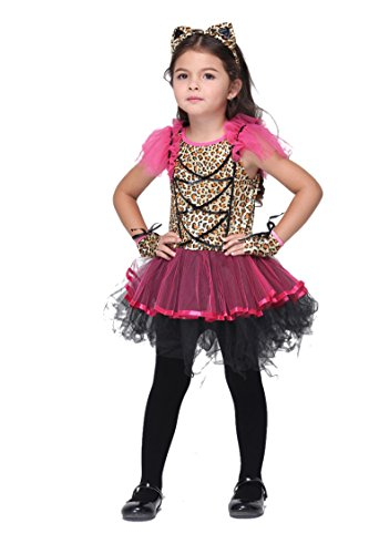 NonEcho Child's Girls Cat Costume Halloween Outfit Kit
