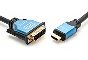 BlueRigger High Speed HDMI to DVI Adapter Cable (6.6 Feet/ 2 Meters)