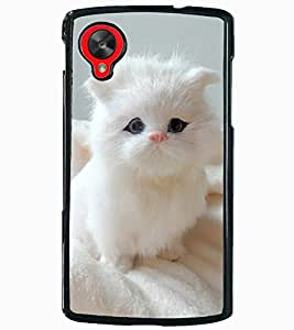 ColourCraft Cute Cat Design Back Case Cover for LG GOOGLE NEXUS 5