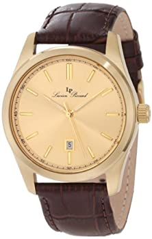 buy Lucien Piccard Men'S 11568-Yg-010 Eiger Gold Dial Brown Leather Watch