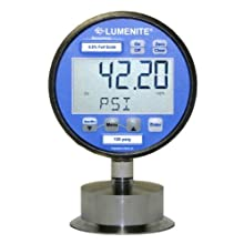 "Lumenite LSDPG-4220-C1-1/2""-60PSI Sanitary Combination Digital Pressure Gauge and 4-20mA Pressure Transmitter, 0-60 psi, LCD Display, 0.25% Accuracy, 1-1/2"" Tri-Clamp Connection"