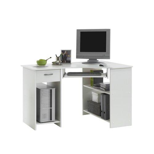 FMD Computer Desk Felix 1, 118.0 x 76.0 x 77.0 cm, White
