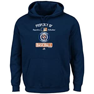 Detroit Tigers MLB Mens Property of Cooperstown Collection Hoodie Sweatshirt Navy... by VF