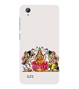 ifasho Laxmi Saraswati and Ganesh Back Case Cover for VIVO Y31L
