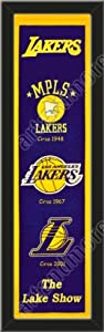 Heritage Banner Of Los Angeles Lakers-Framed Awesome & Beautiful-Must For A... by Art and More, Davenport, IA