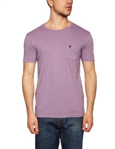 Quiksilver Before Dark Plain Men's T-Shirt Purple Ash Large
