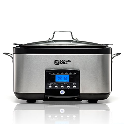 Magic Mill 5-In-1, 6-Quart Multi-Cooker, Slow Cooker, Brown/Sauté, Sear, with non-stick Inner pot (Magic Cooker compare prices)