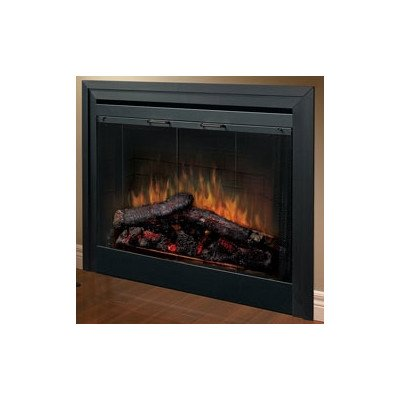 2-Sided Built-in Electric Fireplace with Bifold Glass Door and Trim photo B0017WG2UM.jpg