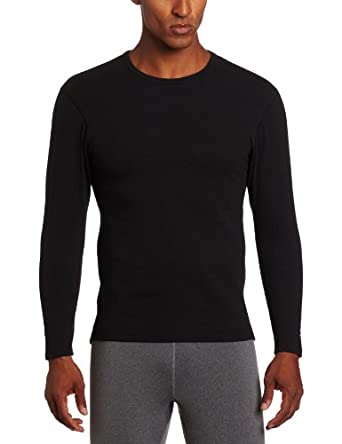 Duofold Men's Varitherm Performance Expedition Weight Thermal Long Sleeve Shirt, Black, Small