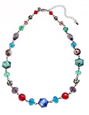 M&S Collection Multi-Faceted Twisted Bead Collar Necklace