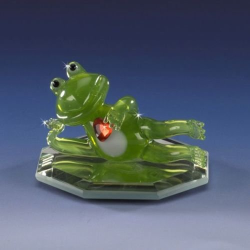 FD Miniature Frog Romeo with Swarovski Crystal Heart Collectible Figurine Hand Crafted (Frog Crystal compare prices)