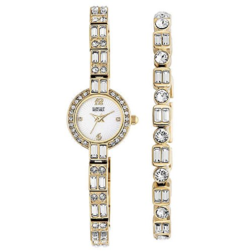 new-badgley-mischka-swarovski-crystal-ladies-gold-tone-watch-with-bracelet-set