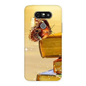 Cute Book Butterfly Back Case Cover for LG G5