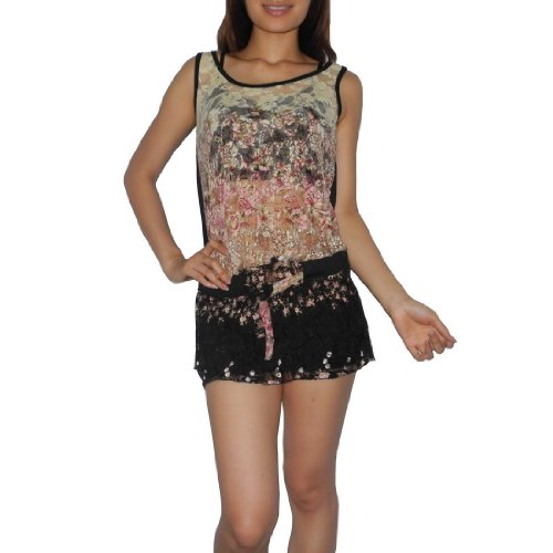 Womens Thai Exotic Fashion Cute Lace Front Tank Top / Shirt - Size: M