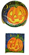 Jack-O-Lantern Paper Plates & Napkins…