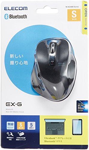 ELECOM ワイヤレスBlueLEDマウス Bluetooth 5ボタン 握りの極み ブラック M-XG4BBBK