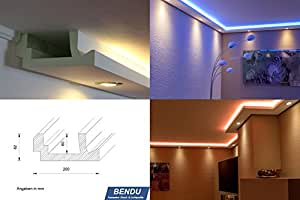 stuckleisten lichtprofil f r indirekte led beleuchtung von wand u decke stuckprofil aus. Black Bedroom Furniture Sets. Home Design Ideas