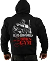 Sweat à Capuche 'Born in the Gym' Homme Gym Bodybuilding Musculation Vêtement d'Entrainement