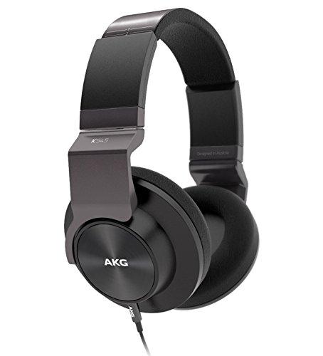 AKG K545 Cuffie Morbide Chiuse Dietro, Pieghevoli, Portatili, con Controllo Volume e Microfono, Compatibili con Dispositivi Apple iOS e Android, Nero