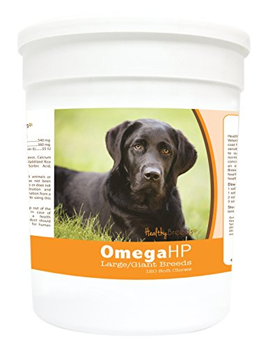 Healthy Breeds 2088-labs-008 120 Count Labrador Retriever Omega-HP Skin and Coat Soft Chews, One Size (Omega Hp compare prices)