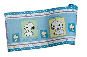 Snoopy family wallpaper border nursery wall borders baby - Snoopy wallpaper for walls ...