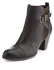 M&S Collection Toe Cap Buckle & Strap Boots with Insolia®